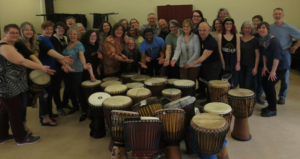 Amara Kante Drumming Lesson Group Picture